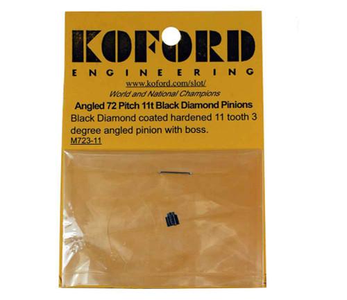 Koford 11 Tooth 3 Degree Black Diamond Angled Pinion - KOF-M723-11
