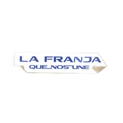 Sticker La Franja Que Nos Une - Fondo Blanco
