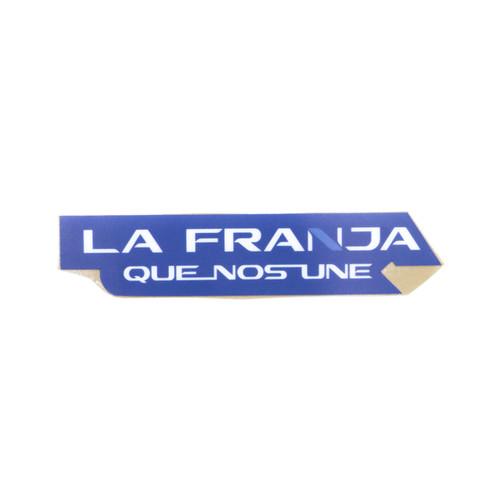 Club Puebla Sticker La Franja Que Nos Une - Fondo azul
