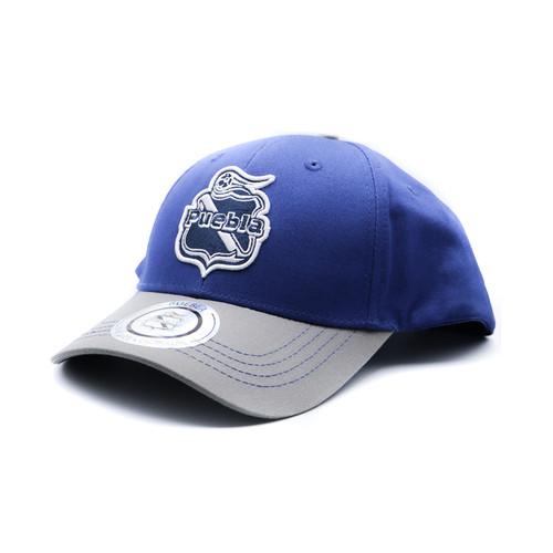Club Puebla Gorra Sport Niño - Azul Con Gris
