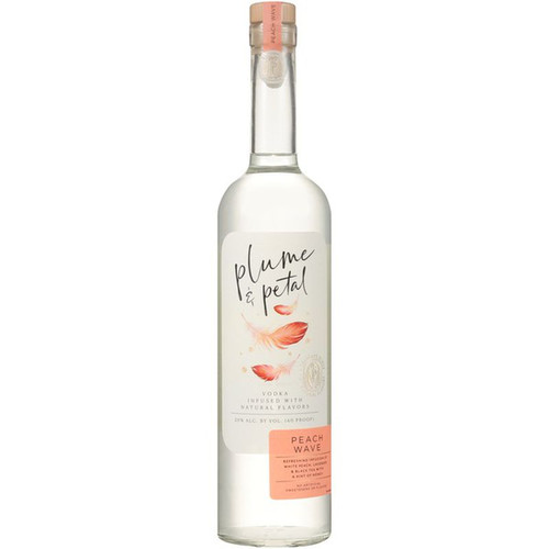 Plume & Petal Peach Wave Vodka 750ML