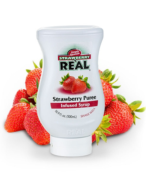 Strawberry Real Infused Syrup 16.9oz