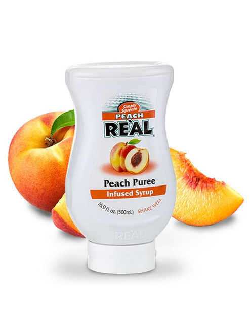 Peach Real Infused Syrup 16.9oz