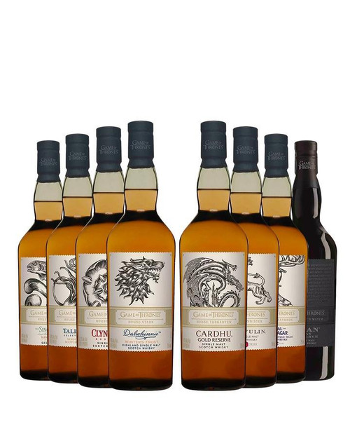 GAME OF THRONES WHISKEY | Entire 8 Single Malt Whisky Collection -Limited Edition