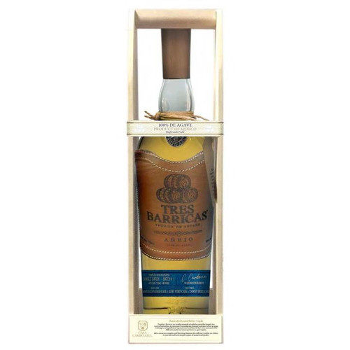 Tres Barricas 100% Agave Añejo Tequila