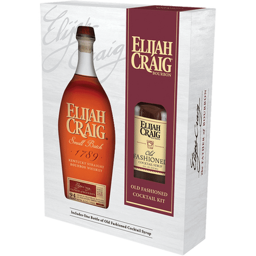 Elijah Craig Bourbon with Old Fashioned Mixer Gift