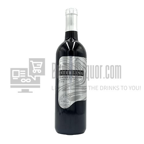 The Sterling Vintner's Collection 2016 Dark Red is a decadent blend of two of the most alluring and rich red varieties: Merlot and Petit Sirah. The deep garnet-colored wine opens with vibrant aromas of black plum, blackberry and warm cardamom spice. The velvety-textured palate is expansive with intense flavors of baked boysenberry, mocha and layers of mouthwatering juicy fruit. The well-integrated oak influence gives toasted vanillin notes and adds to the lengthy, flavorful finish.
