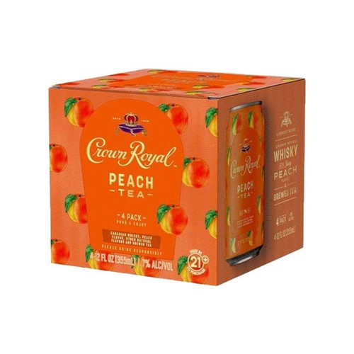 Crown Royal Peach Tea 4 Pack Cans