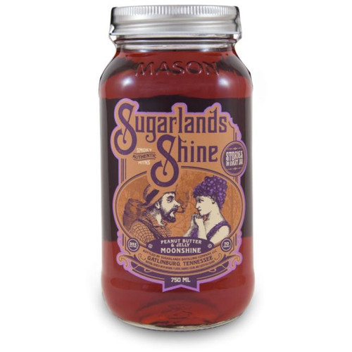 Sugarlands Shine Peanut Butter & Jelly Moonshine is a layered flavor; initially, you get a smoky peanut butter flavor followed by grape preserves. It's a fun novelty flavor to share with friends at any party. Keep it in your freezer for optimal flavor straight from the jar!