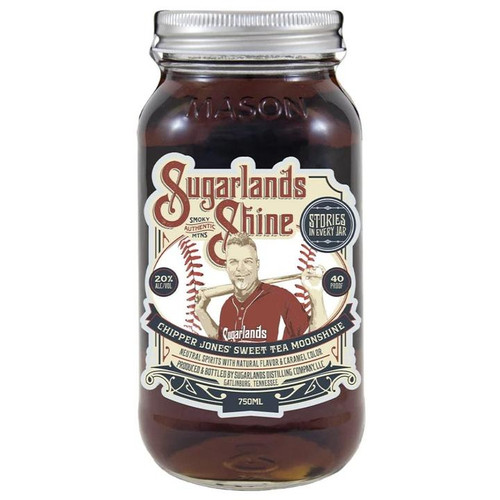 One of baseball's all-time great players, Chipper Jones, has joined the Sugarlands family to celebrate another American pastime, sweet tea moonshine! Enjoy the distinct flavors of black sassafras, and cane sugar. Pair your jar of Chipper Jones' Sweet Tea Moonshine with peach, lemon, cranberry, and orange or try mixing it up in a delicious double-play cocktail, 'The Chipper'.