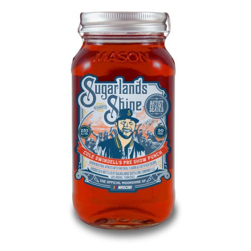 Sugarlands Shine Cole Swindell's Pre Show Punch combines tropical flavors with hints of cherry. This easy sippin', 50-proof 'shine is really all you need. Just crack open the jar and enjoy the show.