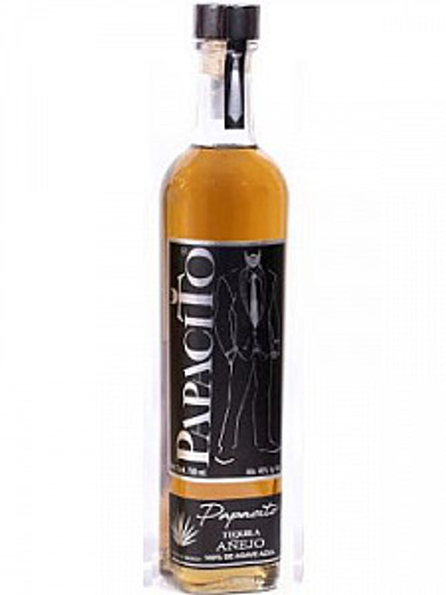 Bottle of Papacito tequila Anejo