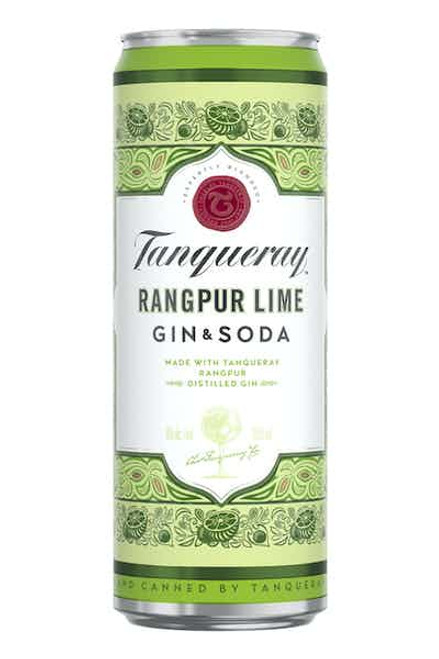 Tanqueray Rangpur Lime Gin & Soda 4 Pack Cans