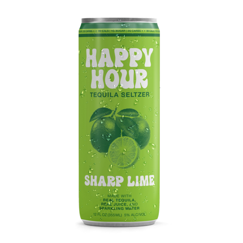Happy Hour Seltzer Sharp Lime 8 Pack