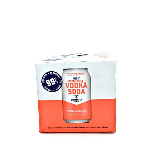 Cutwater Vodka Soda Grapefruit 4 Pack