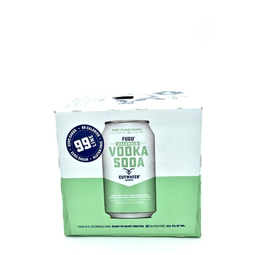 Cutwater Vodka Cucumber 4 Pack