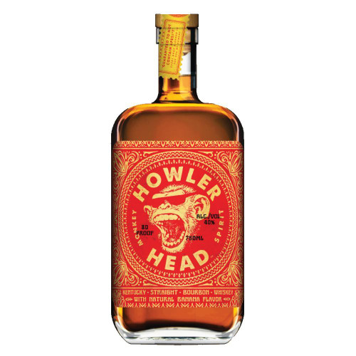 Howler Head Banana Infused Kentucky Straight Bourbon Whiskey 750ml