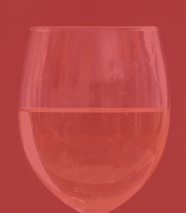 Glass half-full with drink