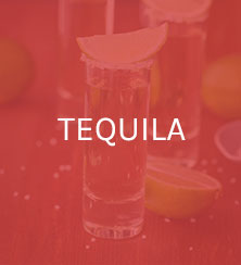 Tequila glass with a slice of lime
