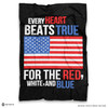 ''Every Heart Beats True' Soft Fleece Blanket Throw