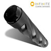 Infinite Cleaning Container - Black Spiral Knurled