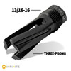 1/2-28 to 13/16-16 (9mm) Three-Prong Muzzle Device