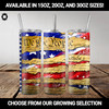 """""""We the People""""  U.S. Constitution and Flag Brushstroke Tumbler (15oz, 20oz, 30oz Options)"""