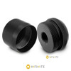 1/2-28 to D Cell Maglite Adapter + Cap Combo Kit - Black