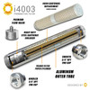 i4003 Premium Inline Fuel Filter - Polished Silver