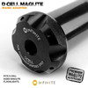 1/2-28 to D Cell Maglite Wand Adapter - Black