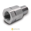 14mm x 1 RH to 1/2-28 RH Thread Adapter - Stainless Steel