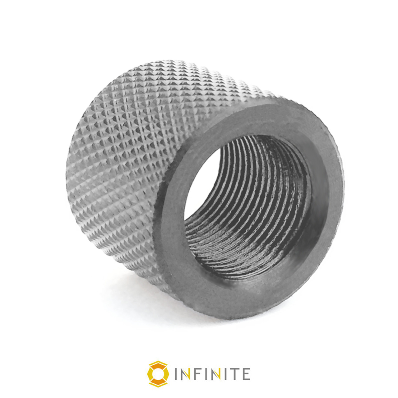 Rifle Thread Protector 1//2-28 Stainless Steel Knurled Finish