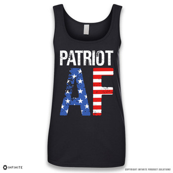 'PATRIOT AF' Sleeveless Ladies Tank Top