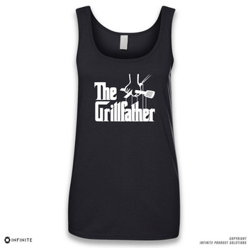 'The Grillfather' Sleeveless Ladies Tank Top