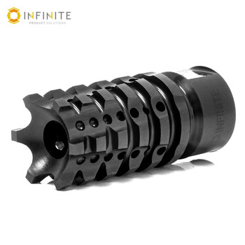 """14mm x 1 LH 'The Emperor' Compensator - 2-1/4"""" - Black Stainless"""