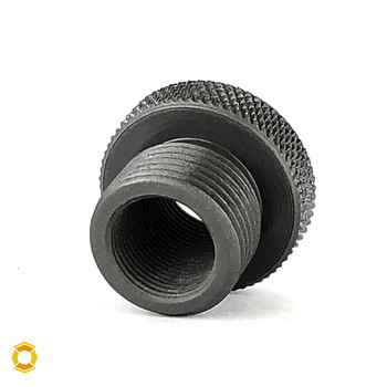 1/2-28 to 18mm x 1.5 Thread Adapter - Black Steel