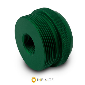 5/8-24 RH to D Cell Maglite Adapter - Green