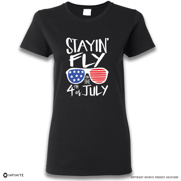 'Stayin' Fly on the 4th of July' Premium Ladies T-Shirt