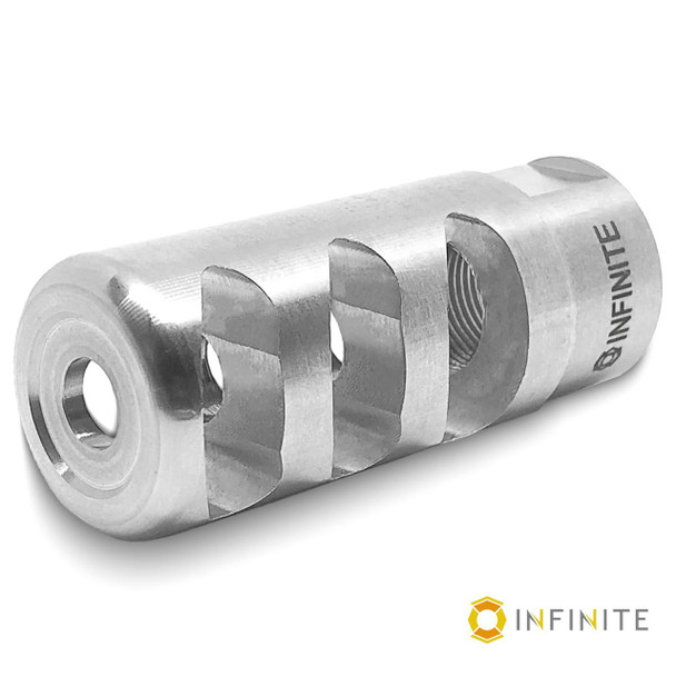 "14mm x 1 LH 'Pulsar' Muzzle Brake - 2-1/4"" - Stainless"