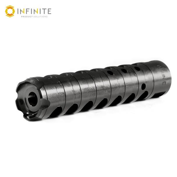 "1/2-28 RH 'X-Caliber' Muzzle Brake - 4"" - Black Stainless"