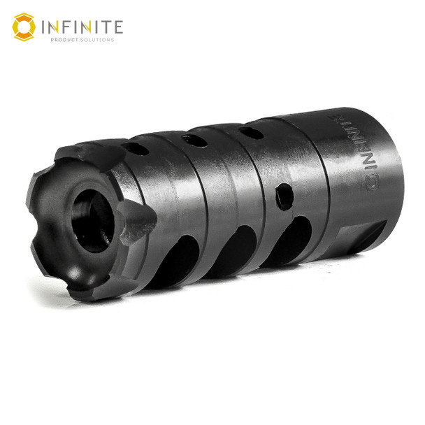 "1/2-28 RH 'X-Caliber' Muzzle Brake - 2-1/4"" - Black Stainless"