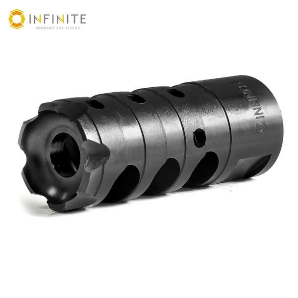 "14mm x 1 LH 'X-Caliber' Muzzle Brake - 2-1/4"" - Black Stainless"