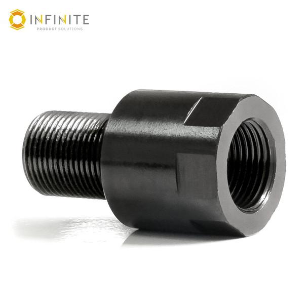 13mm x 1 RH to 1/2-28 RH Thread Adapter - Black Stainless Steel