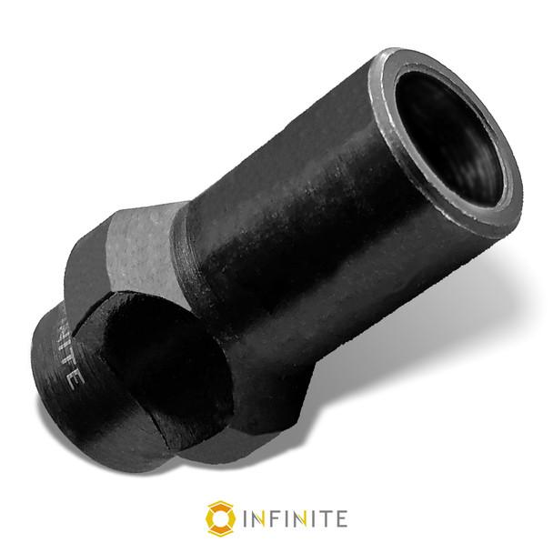 1/2-28 RH to 3 Lug Thread Adapter - Black (Steel)