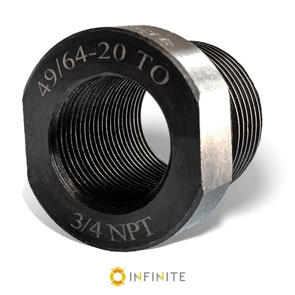 49/64-20 RH to 3/4 NPT Thread Adapter