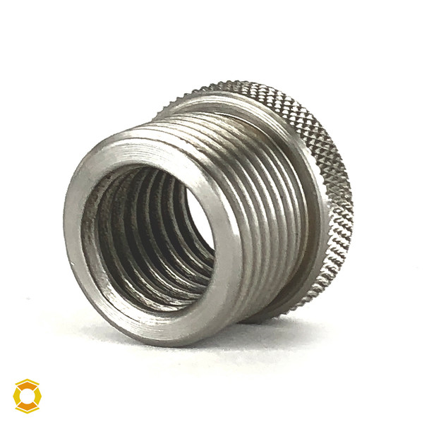 """3/4-10 to 1""""-14 Thread Adapter - Stainless Steel"""
