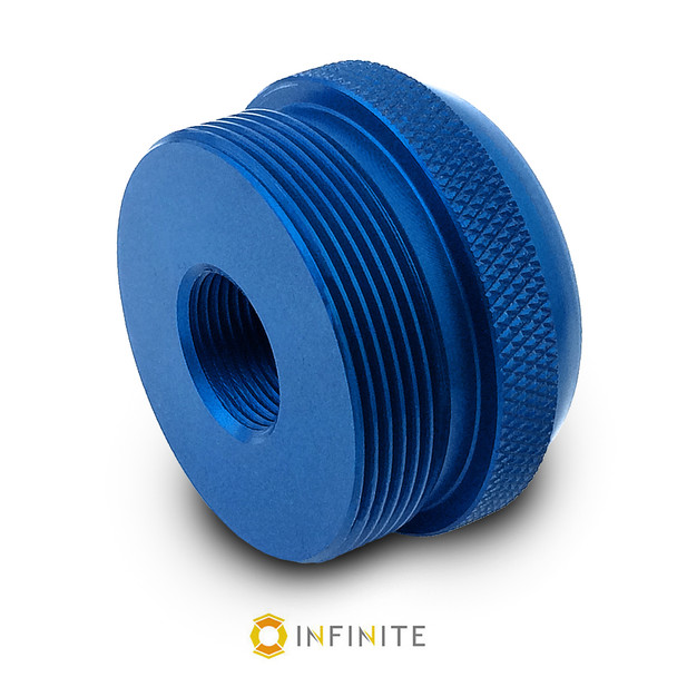 5/8-24 RH to D Cell Maglite Adapter - Blue