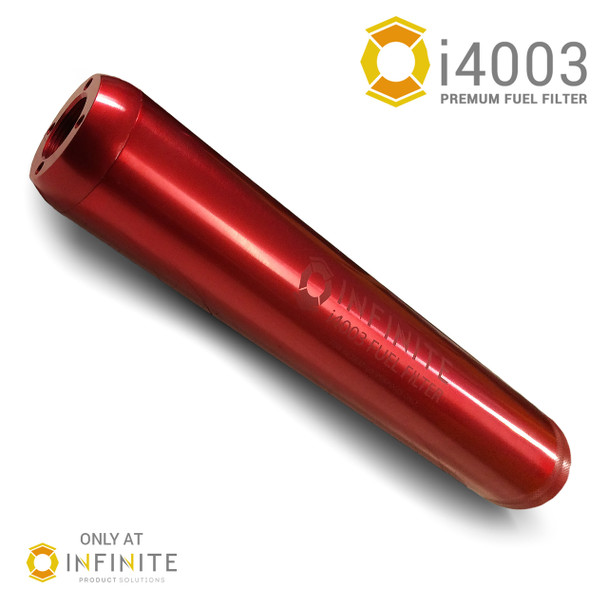 i4003 Premium Inline Fuel Filter - Smooth Red