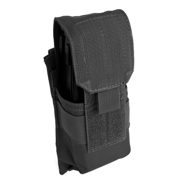 MOLLE Single Rifle Mag Pouch - Black
