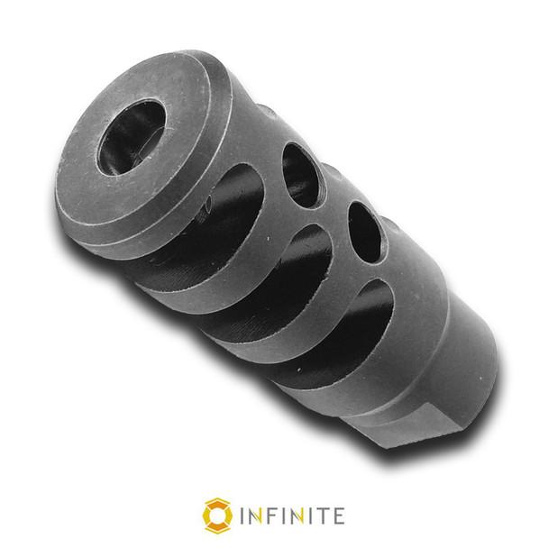 5/8-24 RH X-Treme Muzzle Device - Stainless Steel (Black)